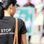 seorang aktiivis berkampanye stop kampanye masa tenang