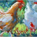 Ayam baranak di Surau